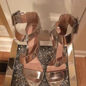 Silver dress heels